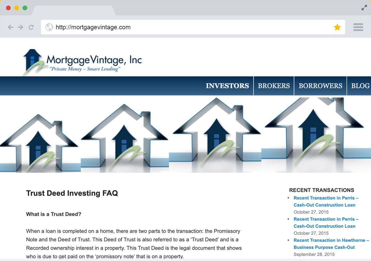 Mortgage Vintage Website Redesign - Marcel Bagrin